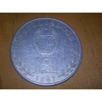 Moeda Coreia Do Norte 1 Uon De 1987 Por R$5,50