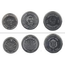 Lote 3 Moedas De Bangladesh 2012 - 1, 2, 5 Taka Fc Perfeita