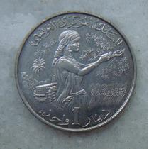 3419 Tunisia 1 Dinar 1983 - Niquel 28mm - Dificil Em Oferta