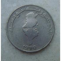 3420 Tunisia 1 Dinar 1990 - Niquel 28mm - Comemorativa