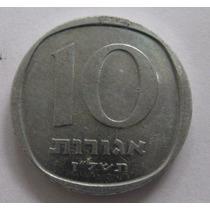 Israel: Bela Moeda De 10 Agorot 1960-1980 - S/fc