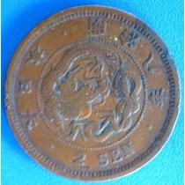 Japao-antiga Moeda 2 Sen -1875-dragão-meiji Ano 8- Muiot Boa