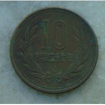 9007 - Moeda Japão 10 Yens Bronze, 23mm - Ver Fotos
