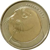 Turquia - 1 Lira 2013 (bimetálica) Foca-monge