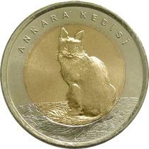 Turquia - 1 Lira 2015 (gato-angora)