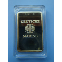 Medalha Barra Alemanha Deutsche Marine - Banho Ouro Acrilico