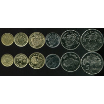 Lote De 6 Moedas Seychelles 1-25 Cents 1 E 5 Rupees 2004/10