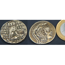 Grécia Antiga- Athenas E Coruja - Ano 200 A.c. - Rara !