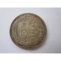 Inglaterra Moeda Prata 1 Shilling 1889