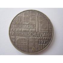 Alemanha Prata 625 Moeda 5 Mark 1975 F