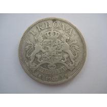 Suécia Moeda Prata 1 Krona 1907 - Mbc