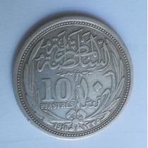 Moeda Prata Egito 10 Piastras 1916 Mcb/sob 10,6g 833milés.