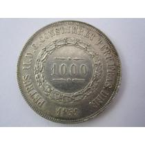 Brasil Moeda Prata 1000 Réis 1859