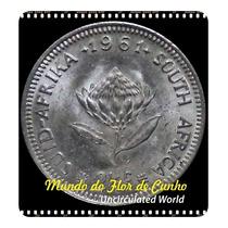 Za Km 58 2 1/2 Cents 1961 Xfc Prata Escassa Moeda Da Foto