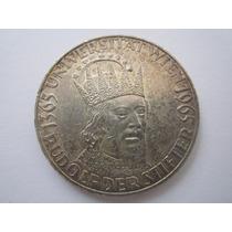 Austria Moeda Prata 50 Shilling 1965