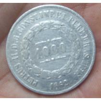 Moeda 1000 Réis 1862 Petrus Ii (prata)