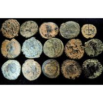 Lote 15 Moedas Antigas Late Império Romano Era Constantino