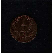 Moeda Mexico ¼ Real 1836 -a- Cobre