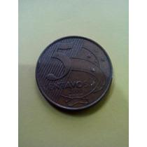 Moeda De 5 Centavos Do Ano 2000 - Rara