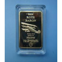 Medalha Barra Alemanha Avião Der Rote Baron - Acrilico