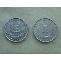 2110 Alemanha - 2 Moedas 10 Pfennig 1981,1968 A - Alum 21mm