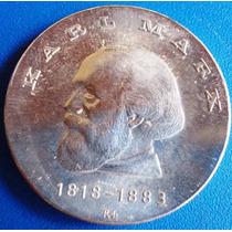 Alemanha-ddr-moeda Prata 20 Mark-1968-karl Marx-perfeita