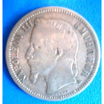 França-moeda Prata 1 Franco Ano 1863-napoleon Iii