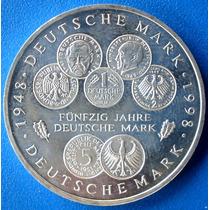 Alemanha Moeda Prata 10 Mark-1998-50 Anos Do Marco Alemão