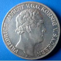 Alemanha-saxonia-moeda Prata 2 Thaler-1854f- Sob