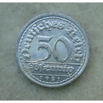 5337 Alemanha - 50 Pfennig 1921 G - Karlsruke , 23 Mm