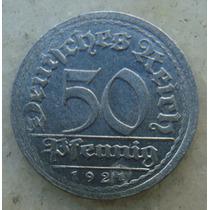 5298 Alemanha - 50 Pfennig 1921 F -, 23 Mm - Aluminio