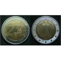 Moedas - Alemanha - 2 Euro+1 Euro 2002 - Sob - Bimetalica