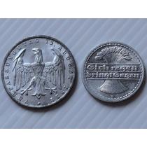 Alemanha 3 Mark 1922/ 50 Pf 1921 Aluminio
