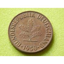 Moeda Da Alemanha De 10 Pfennig De 1950 (ref 524)