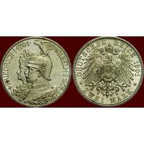 Império Alemão - Prússia. Wilhelm Ii. 2 Mark 1901 Berlin