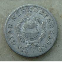 9585 - Hungria 1 Forint 1968, 23mm, Serrilha - Aluminio