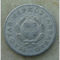 9588 - Hungria 1 Forint 1967, 23mm, Serrilha - Aluminio