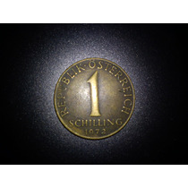 Moeda Da Aústria De 1 Schilling - 1972 Por R$2,50