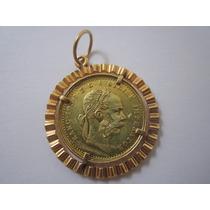 Moeda Pingente De Ouro 18k Da Áustria