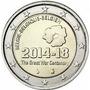 Moeda 2 Euros Bégica - 100 Anos Da Primeira Guerra Mundial