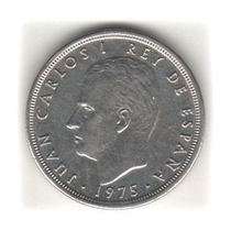 Moeda Da Espanha De 5 Pesetas Do Ano 1975 Por R$ 2,00