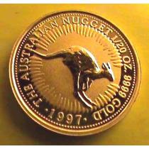 Moeda De Ouro Puro 999 Com Certificado - Australia - Cangurú