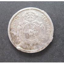 Espanha: Prata - Bela Moeda 50 Centimos 1926 - Escassa !!!