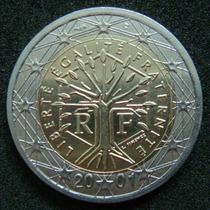 Moedas - França - 2 Euro 2001 - Fc - Bimetalica