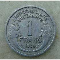 9598 - França 1 Franc 1949 - Aluminio, Escassa 23mm Letra B