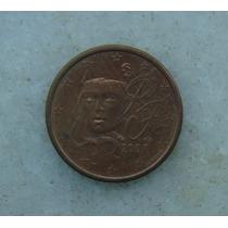 3417 - França 1 Cent, Euro Ano 2008, Aço Cobre - 16mm