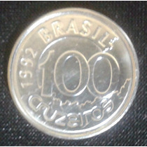 Moeda Antiga De 100 Cruzeiros - 1992 Brasil