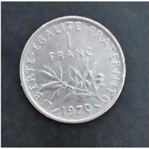 Moeda França 1 Franc - Um Franco - Ano 1970 Frete - R$ 6,00