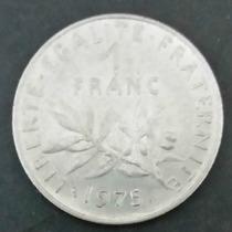 Moeda França - 1 Um Franc - Ano 1975