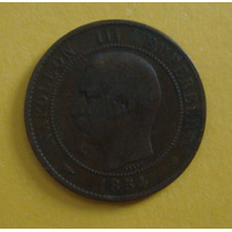 1960 França Napoleon Iii 1854 - 10 Centimes, 30mm Letra Bb